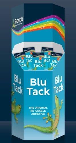 Bostik Blu Tack Dump Bin - Contains 240 Units